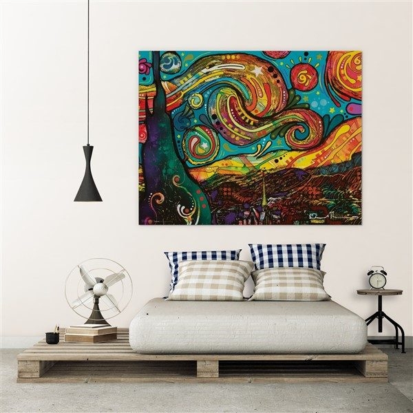 Starry Night Van Gogh Fine Art Giant Framed CANVAS PRINT A0 A1 A2 A3 A4 Sizes