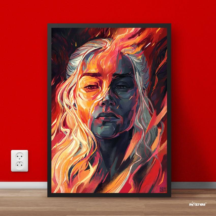 A0 A1 A2 A3 A4 Game of Thrones Khaleesi Emilia Clarke Large Poster Art Print
