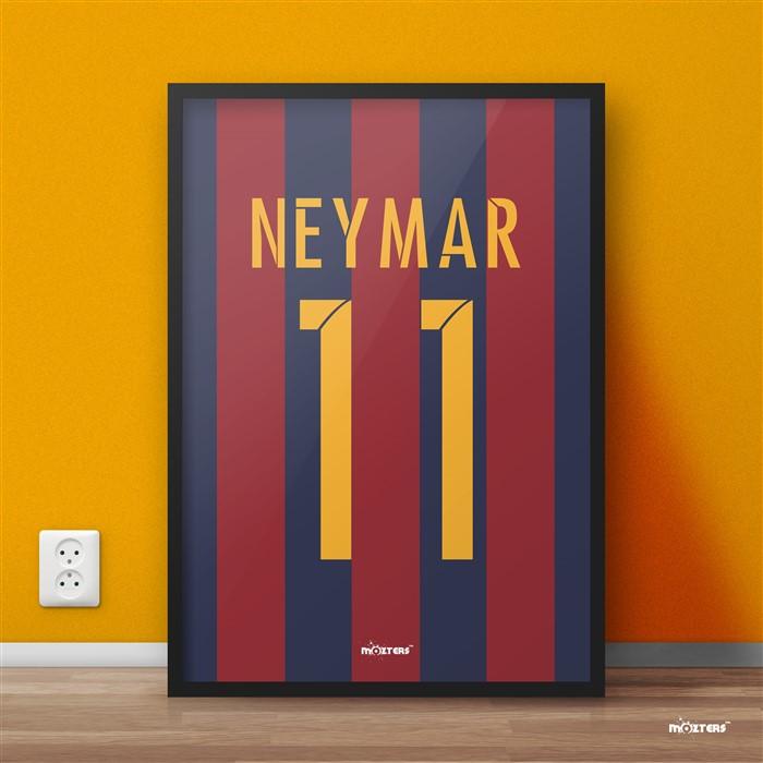 Neymar Brasil Barcelona Football Giant Poster Art Print A0 A1 A2 A3 A4 Sizes