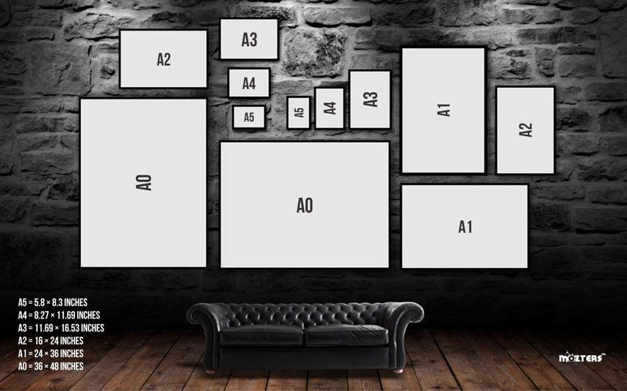 A4 A3 A2 A1 A0  Cyberpunk Digital Art Poster Print T1172
